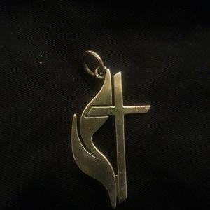 James avery Methodist pendant (large)